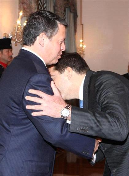 King Abdullah and his despised Prime Minister Samir Rifai